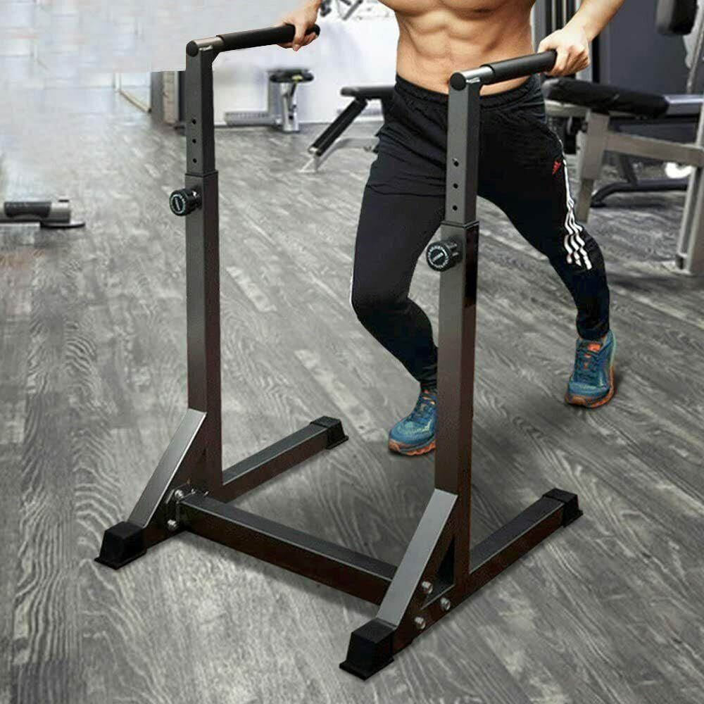 Adjustable Multi Function Strength Training Dip Stand Station Pull Push Up Bar For Home Gym In 2021 Home Gym Design At Home Gym Diy Home Gym