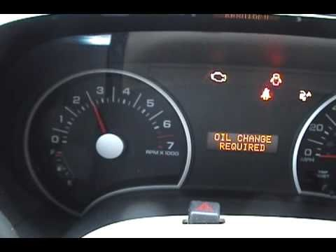 2006 Ford Explorer Oil Change Required Light Reset Youtube