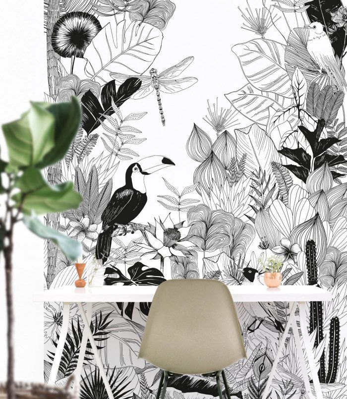 la d co toucan c 39 est maintenant blog d co diy feuilles tropicales dessin graphique et coin. Black Bedroom Furniture Sets. Home Design Ideas