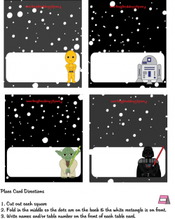 photograph about Star Wars Printable Cards referred to as heaps of star wars social gathering printables for no cost! issue playing cards
