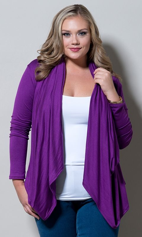 #plussize Eternity Wrap Cardigan - Amethyst at Curvalicious Clothes. Use code: TAKE15 at checkout