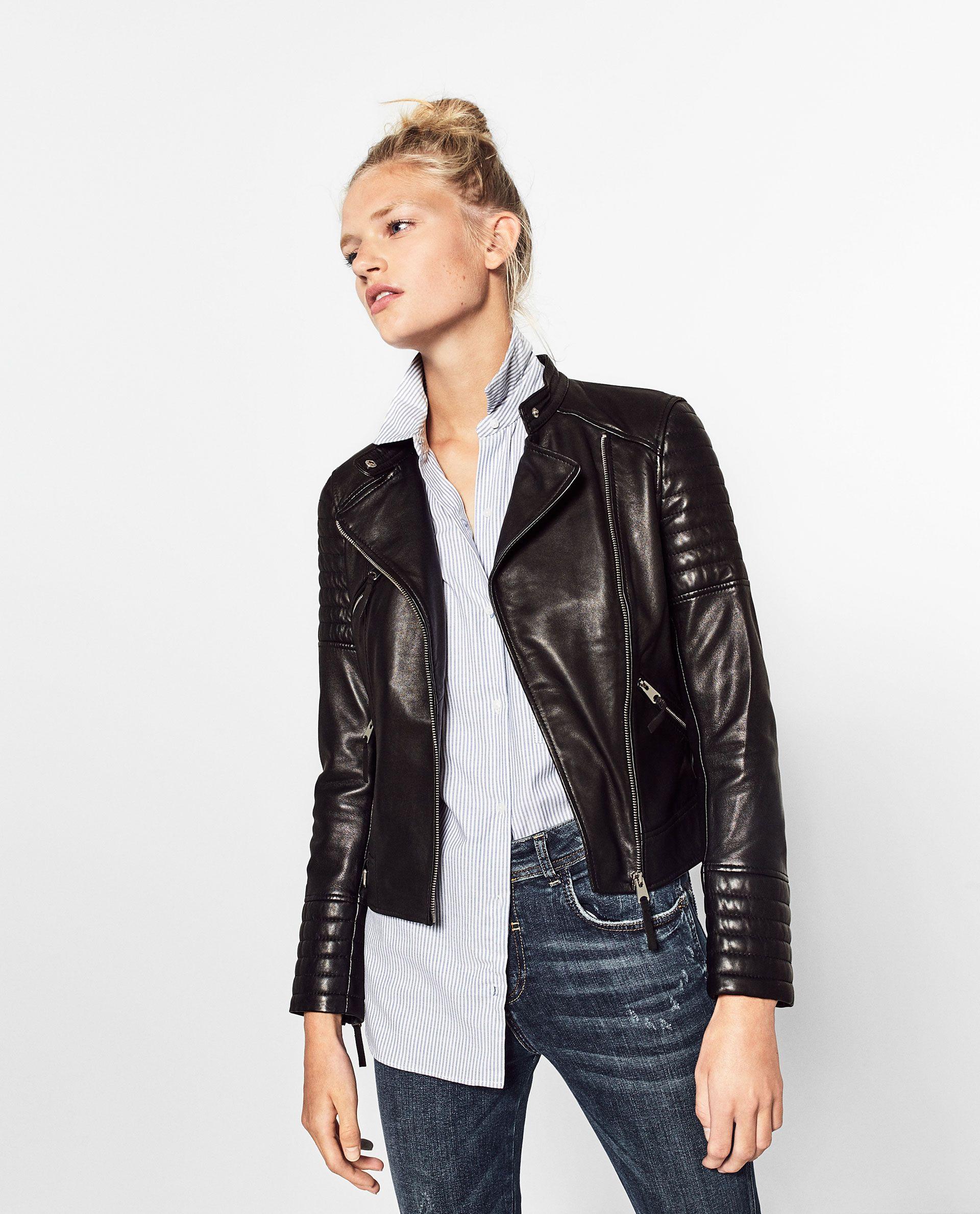Jaqueta pele fechos (preto): ZARA TRF (89,95€)
