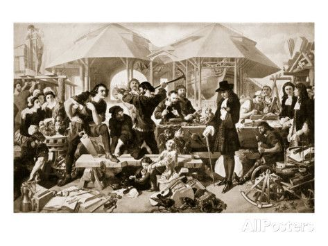 Peter the Great at Deptford Dockyard. Giclee Print
