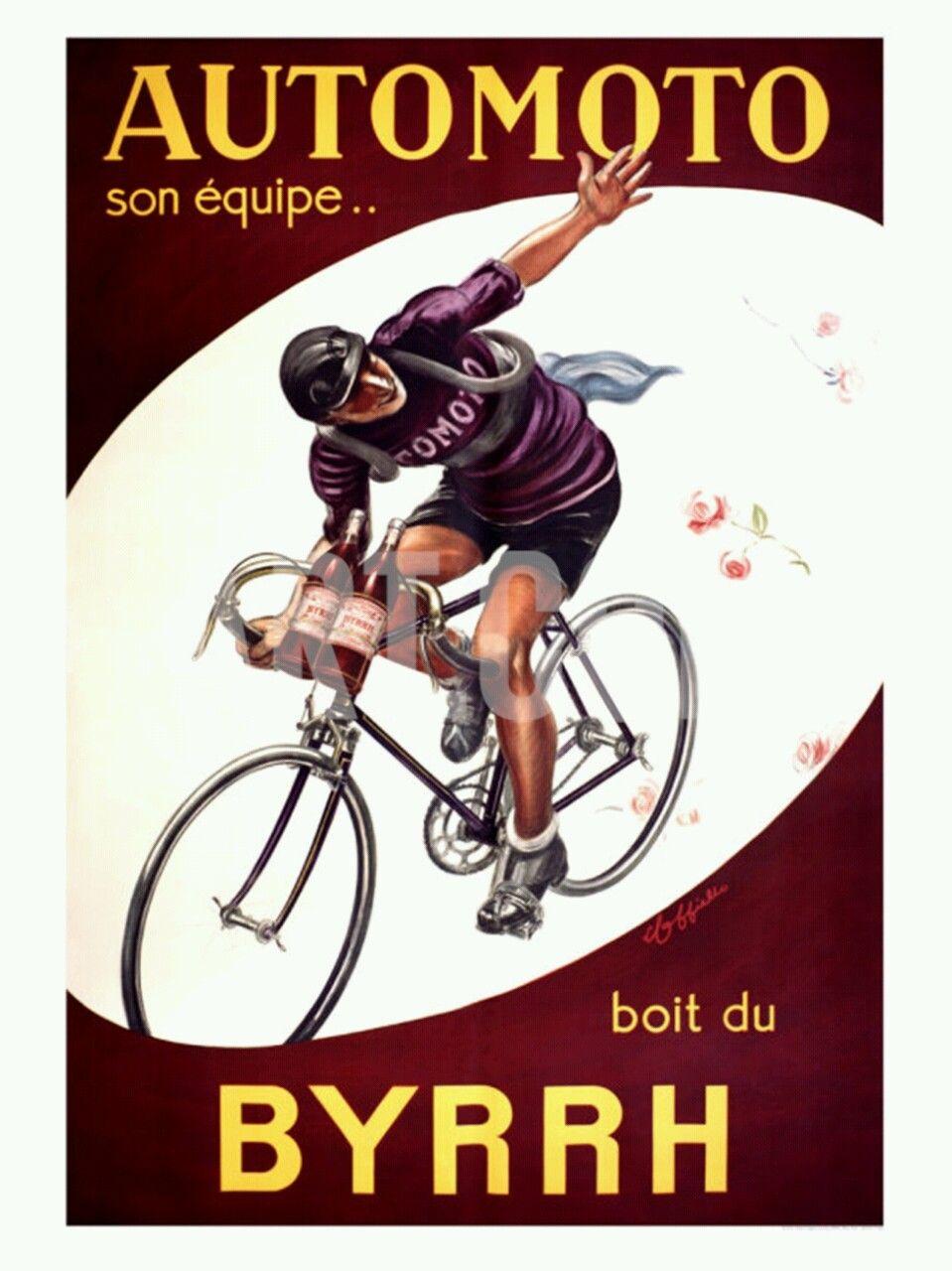 vintage french ad reading Automoto son équipe boit du