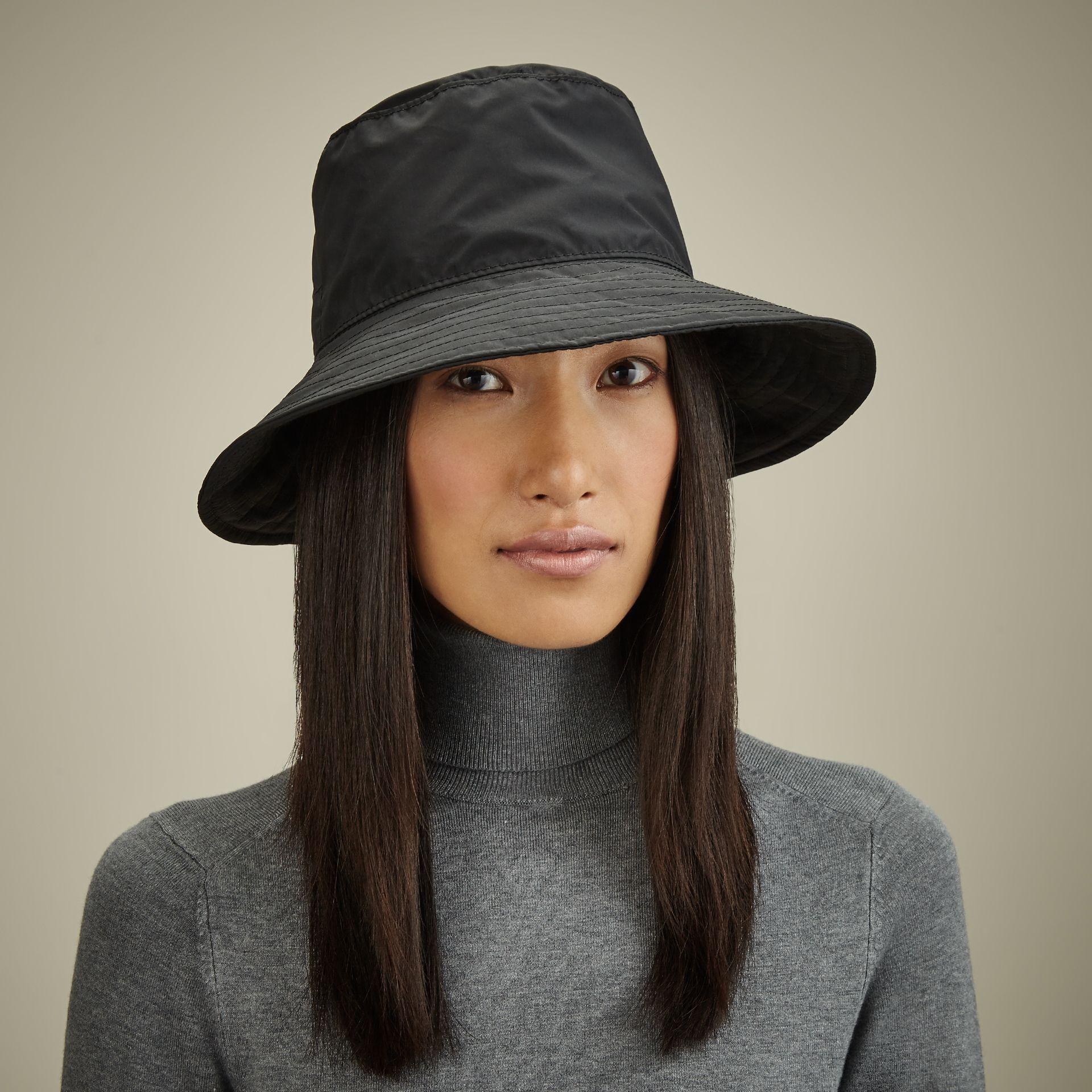 Outdoor UV Protection Rain Cap Waterproof Rain Hat Wide Brim Bucket Hat Brown