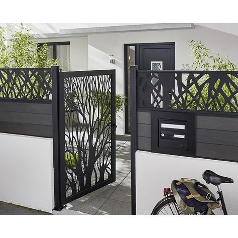 portillon d coratif arbre idaho castorama jardin. Black Bedroom Furniture Sets. Home Design Ideas