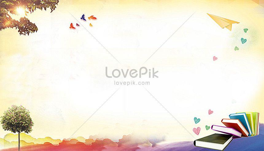 Latar Belakang Pendidikan Creative Background Education Poster Web App Design