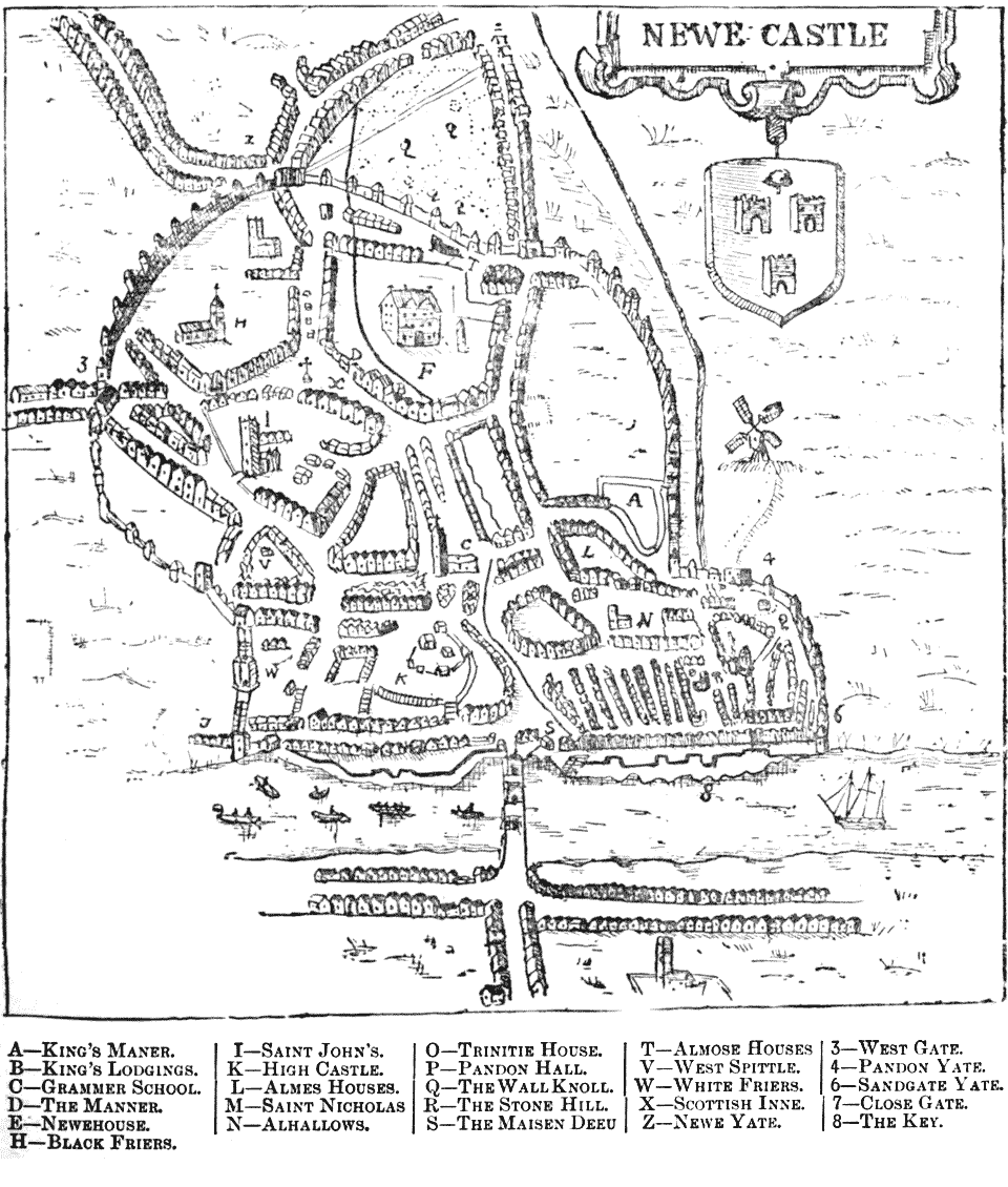 Map Of Newcastle By John Speed Newcastle Upon Tyne Newcastle Map Newcastle