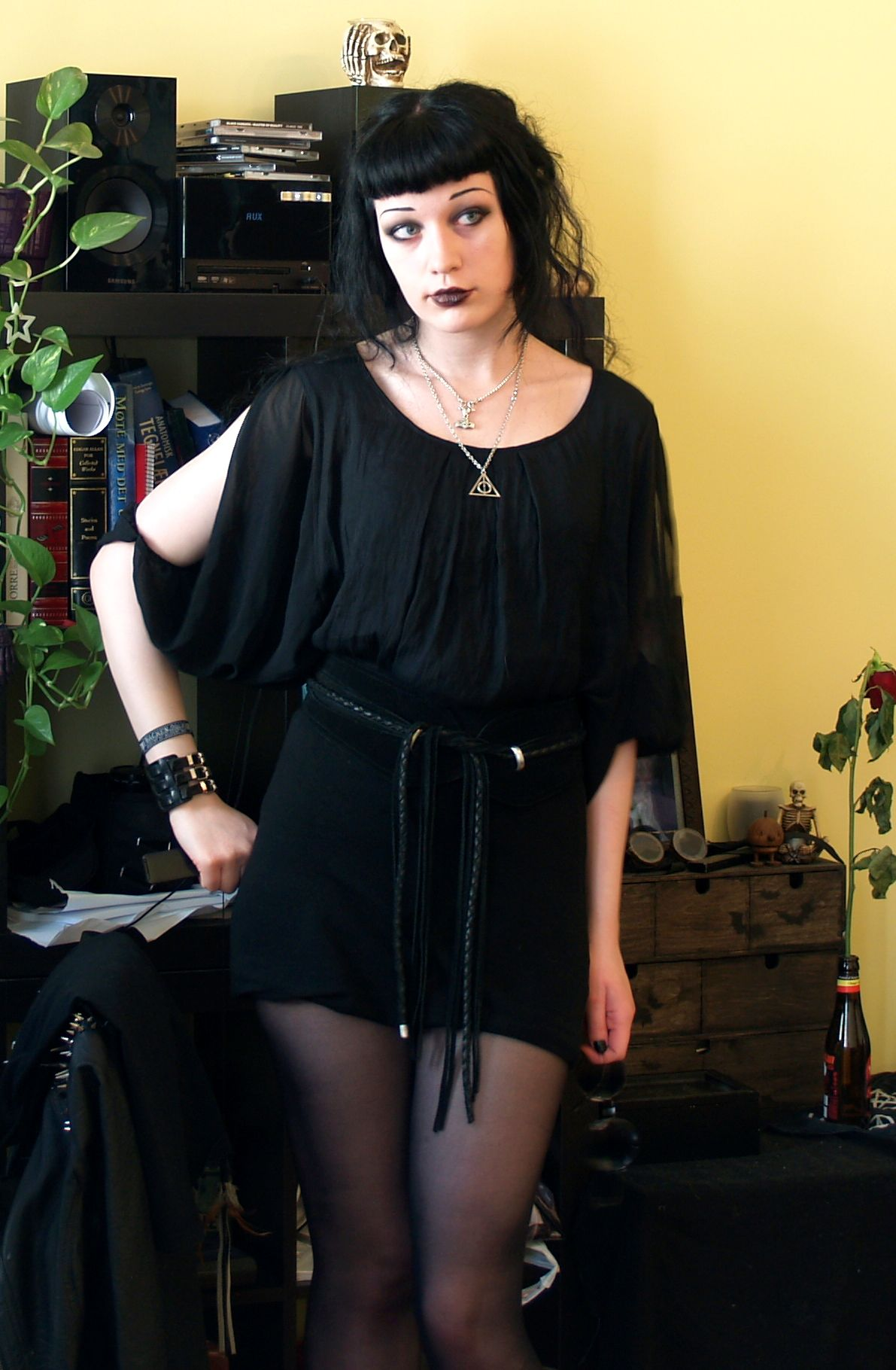 Casual Goth.
