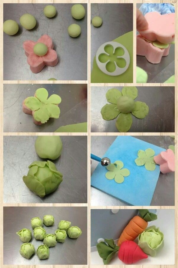Vegetables out of gum paste
