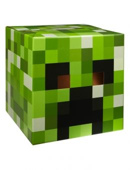 Minecraft Cardboard Head....this would be so easy to make for Adam's costume!