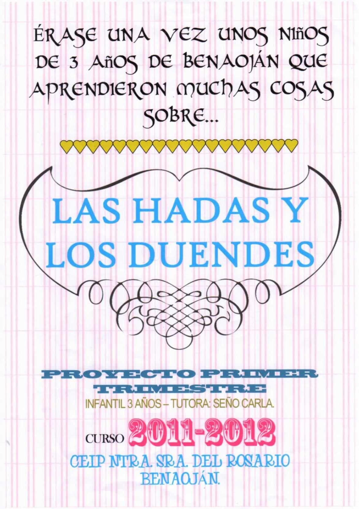 Proyecto Las Hadas Y Los Duendes Ed Infantil 3 Años Duendes Hadas Cuento De Hadas