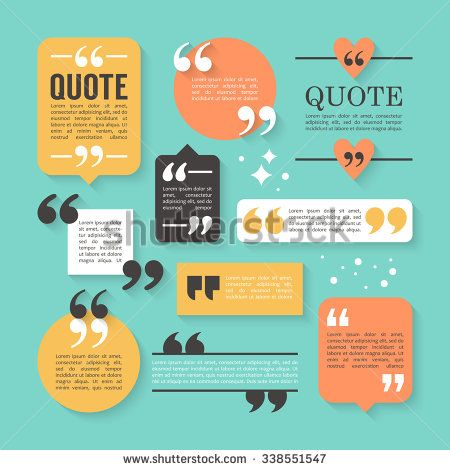 modern block quote and pull quote design elements creative quote