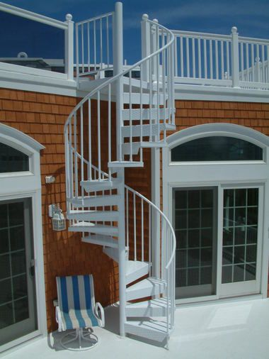 Exterior spiral staircases look stunning and save space in ...
