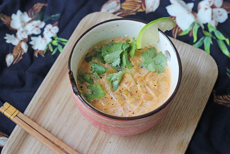 Soupe végétarienne thaï
