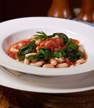 White Bean Stew with Swiss Chard and Tomatoes