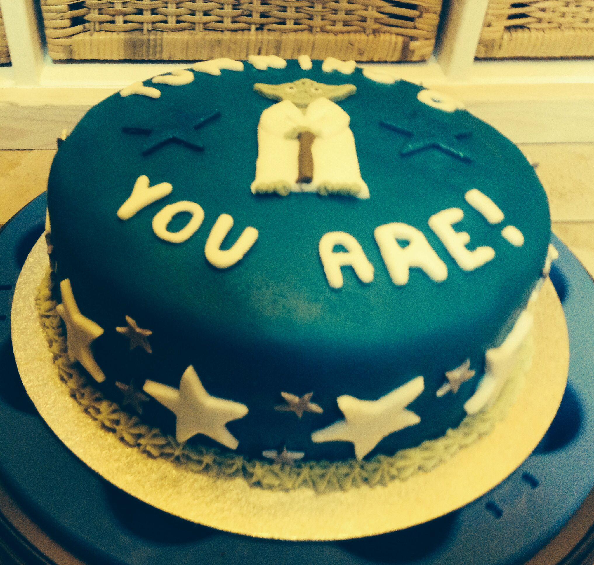 Ben's Yoda birthday cake