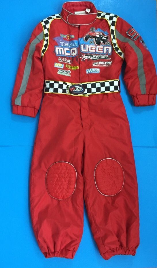 0be289c9f3e4f9 Kids Lightning McQueen Pit Crew Jumpsuit Costume Disney Store Cars ...