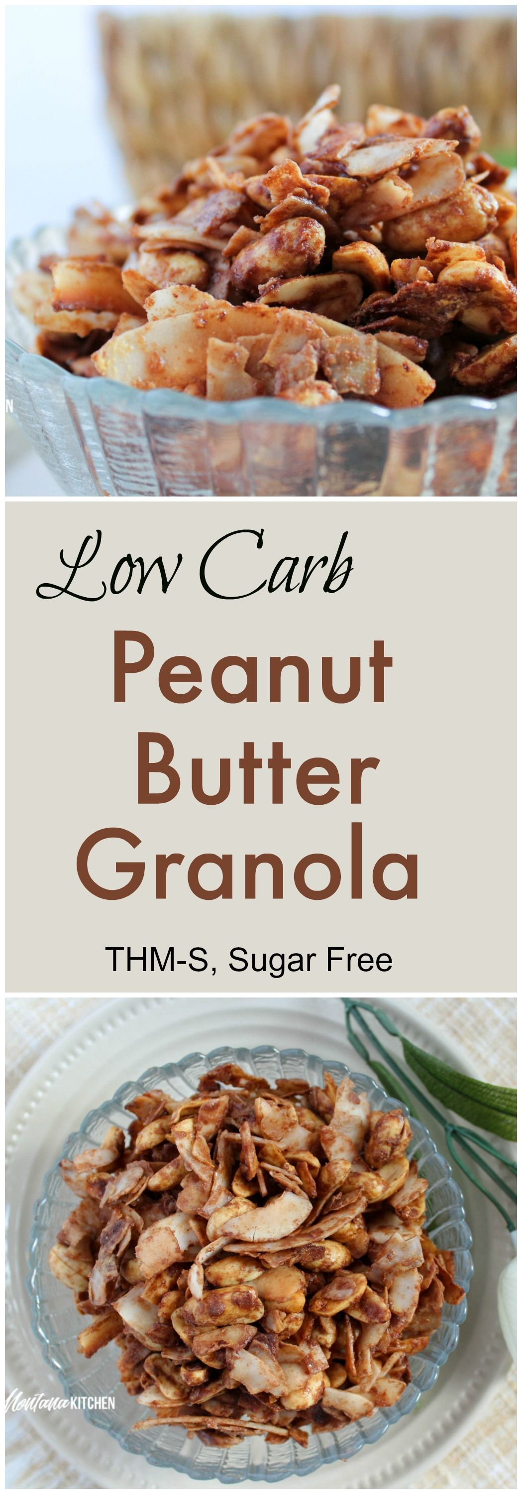 Low Carb Peanut Butter Granola (Sugar Free, THM-S) - My Montana Kitchen | THM in 2019 | Low carb ...