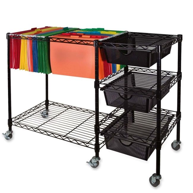 Rolling File Cart Google Search File Carts Office Furniture Accessories Hanging Rail