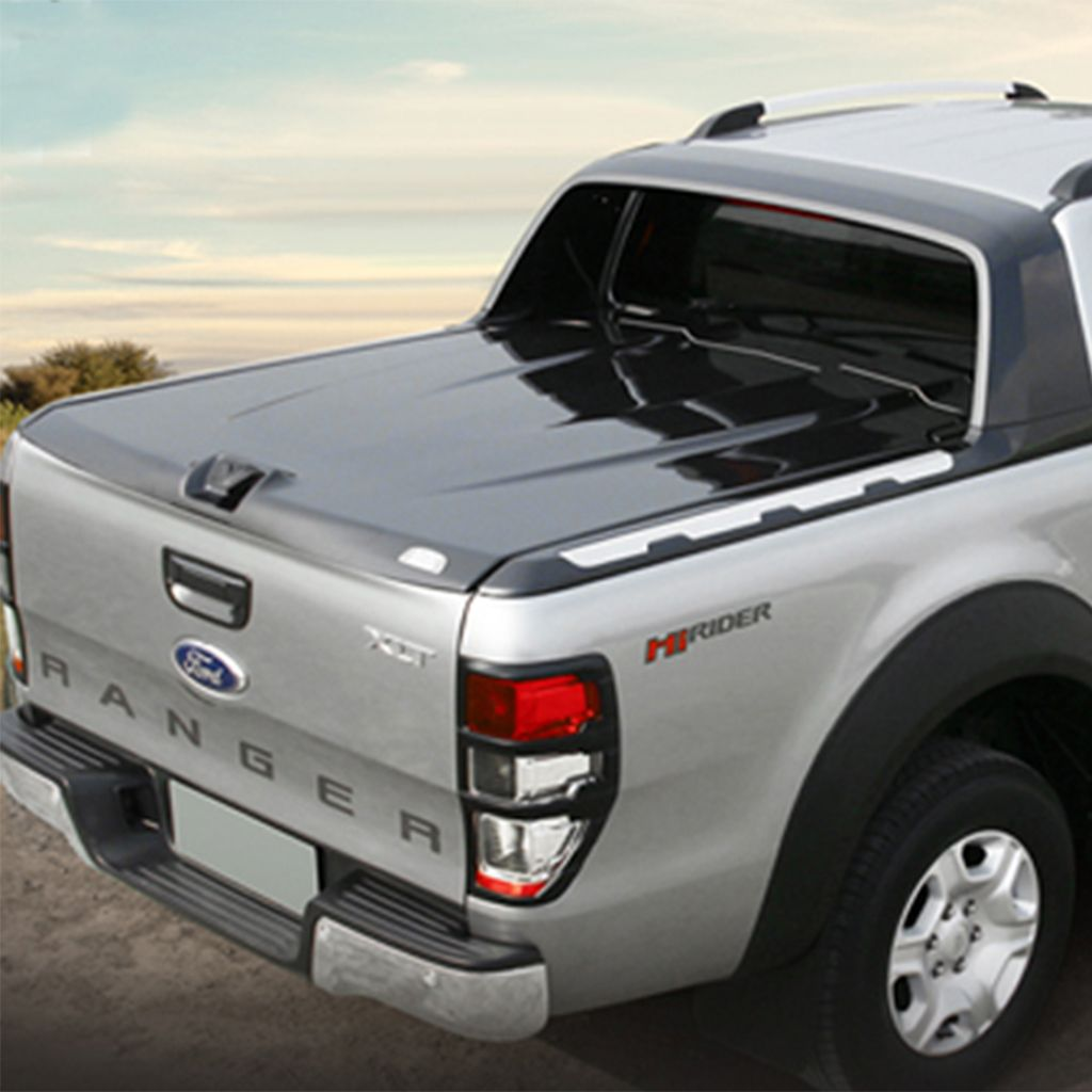 Max Hard Tonneau Cover For Ford Ranger Mk5 7 2016 Wildtrak Grey