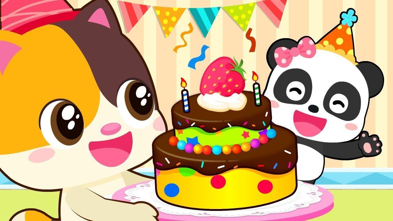 X2764 Miu Miu Birthday Party Animation For Babies Kids Cartoon Nursery Rhymes Baby Panda Birthday Panda Birthday Party Cartoon Kids