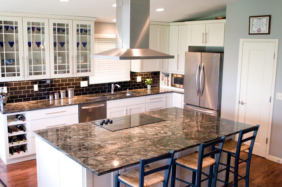 Incredible Counter Depth Refrigerator Decorating Ideas For Kitchen Eclectic Design Ideas Eclectic Kitchen Granite Countertops Kitchen Black Granite Countertops