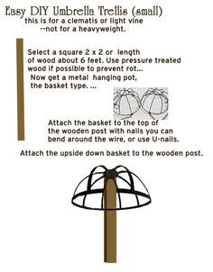 Umbrella Trellis Diy This Oughta Be Easy With Images Diy