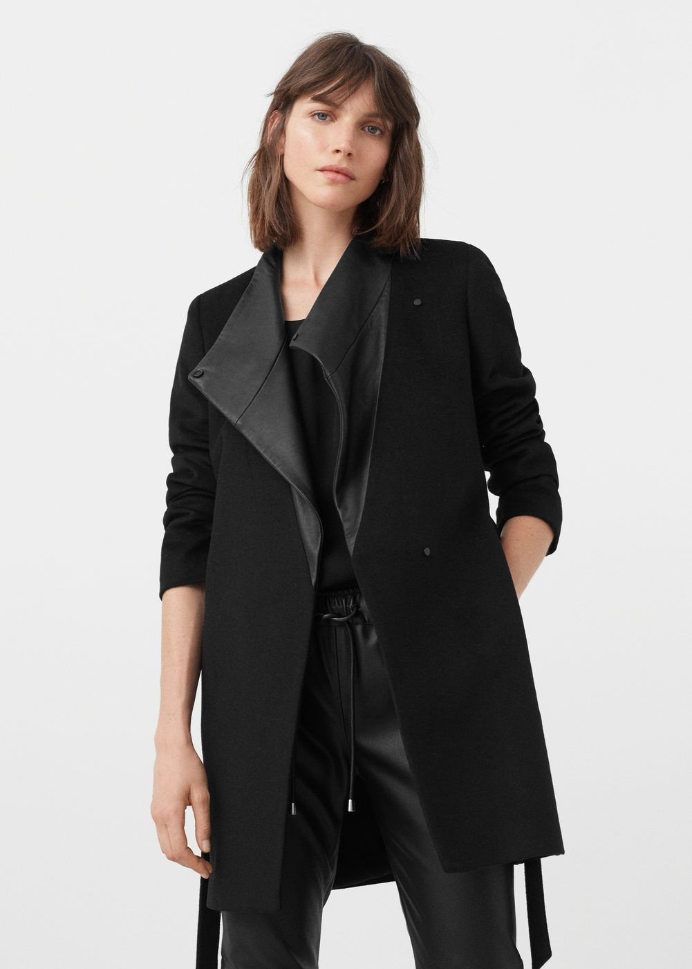 Wool leather coat | Leather, Coats and Winter
