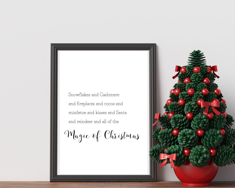 Magic Of Christmas Christmas Printable Art Christmas Quote Etsy In 2020 Minimalist Christmas Decor Christmas Prints Minimalist Christmas