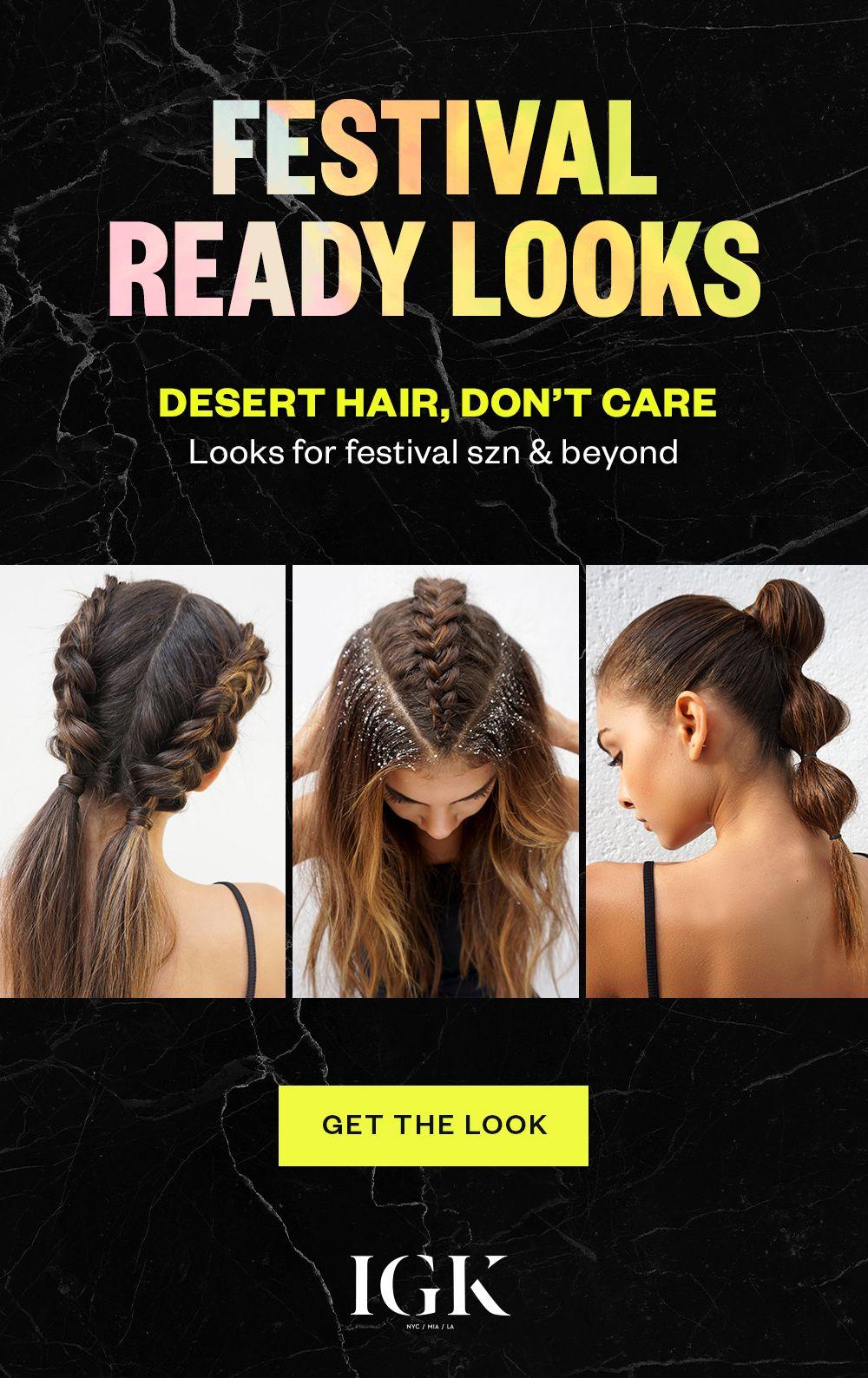 Festival Hair Styles For The Desert And Beyond Festival Hair