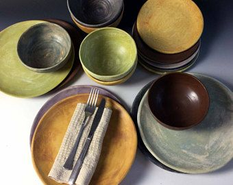 NEW Matte glazed Stoneware Dinnerware sets by Leslie Freeman : glazed stoneware dinnerware - pezcame.com