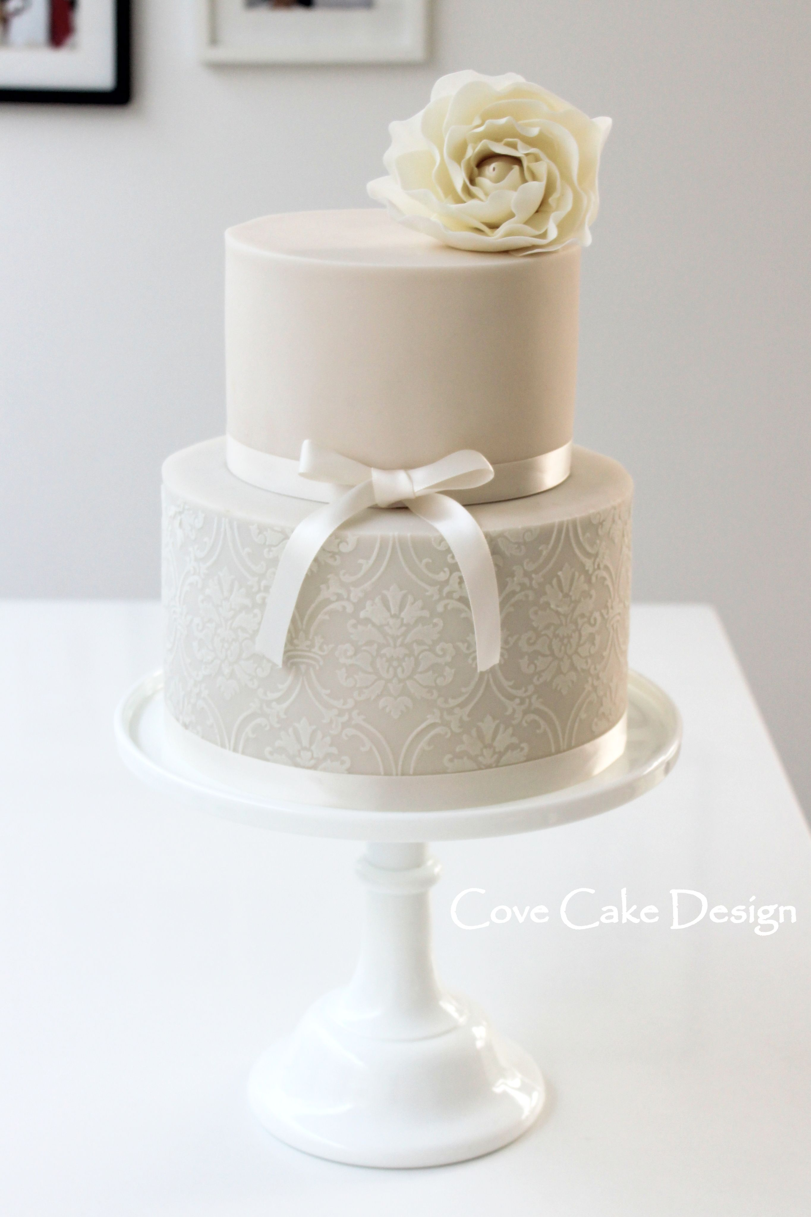 Damask rose wedding anniversary cake | { t h e . c a k e ...