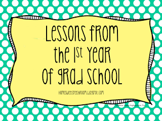 Lessons from the 1st Year of Graduate School - repinned by @PediaStaff – Please Visit  ht.ly/63sNt for all our pediatric therapy pins