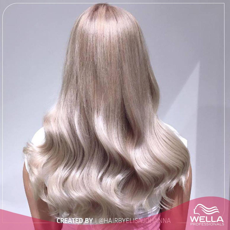 لقد احببنا هذا اللون الأشقر فانيلا الثلجي من ابتكار Hairbyelisajohanna على انستغرام لقد اظهرت هذه الاطلالة مستوى جمالي جديد لل ون Hair Looks Wella Hair Hair