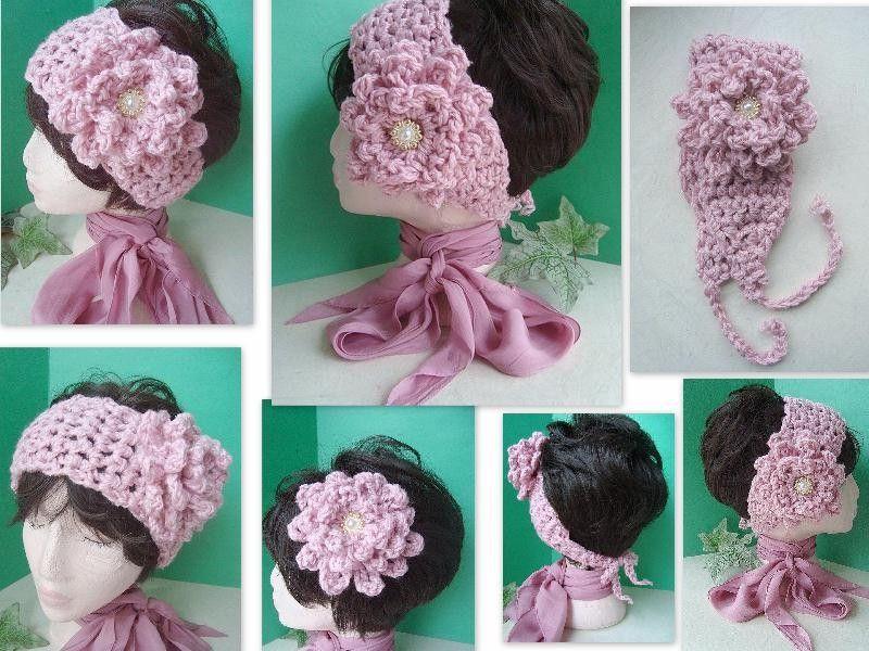 Haarband Stirnband Ohrwärmer häkeln / crochet headband