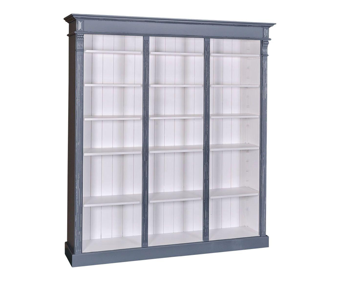 Bibliothèque, gris bleuté et blanc - H197 | Westwing Home & Living