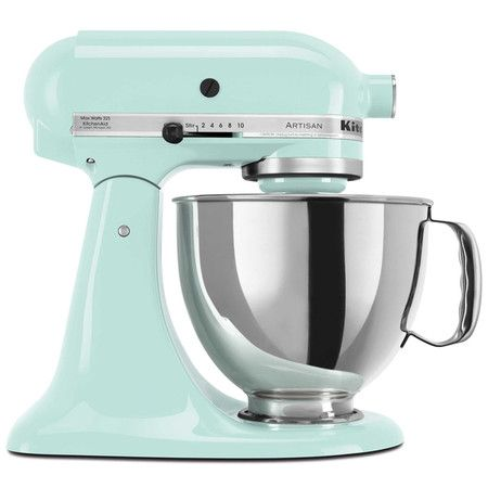 kitchenaid artisan series stand mixer in ice iconic rh pinterest com
