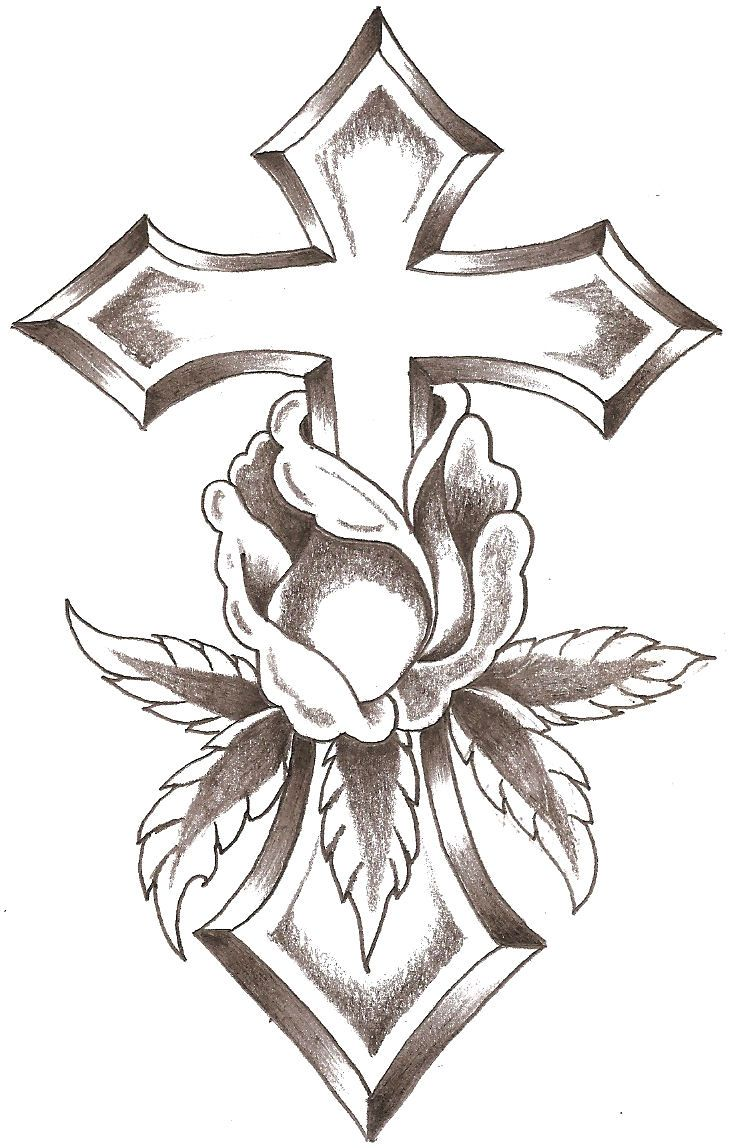 Cross BLooM  RoSes More  Pinterest  Tattoo Tatting and Tatoos