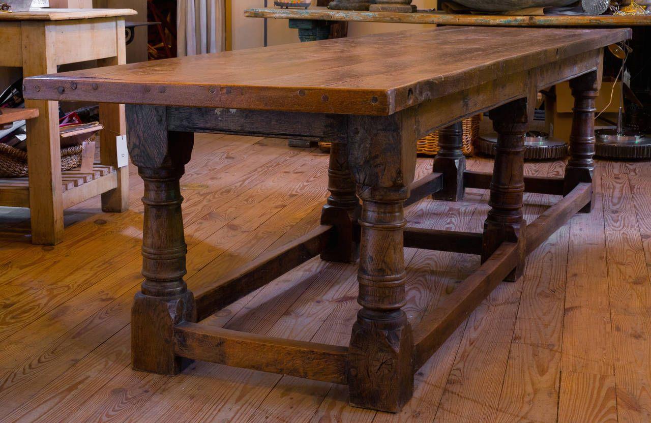 Massive Belgian Oak Monastery Table Image 2 Table Oak Table Oak