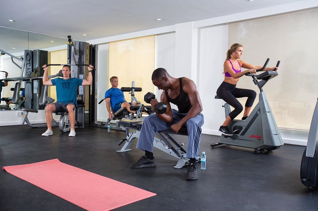 We offer a 24-hour fitness center for guests who are interested in working out while on vacation. It features Life Cycles, treadmills, weight benches, free weights, a Cybex multi-gym and yoga mats.