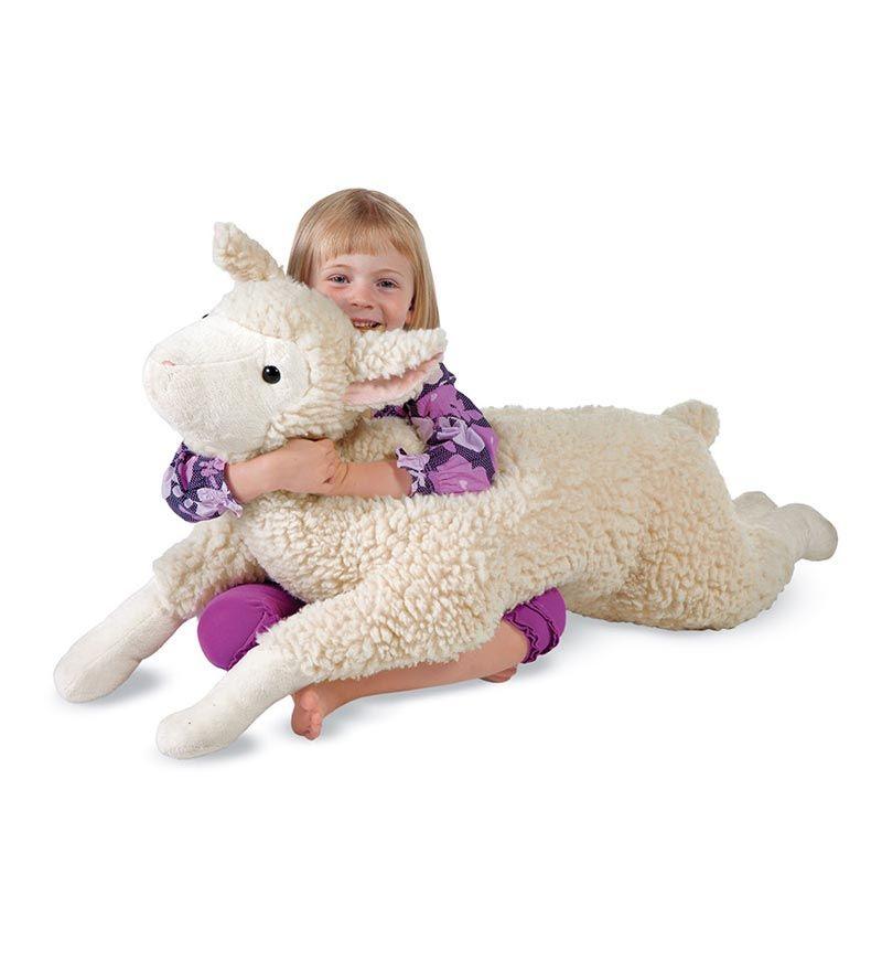 snuggle lamb body pillow plush toys