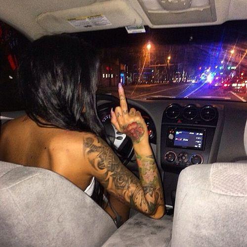 Imagem de girl, tattoo, and car