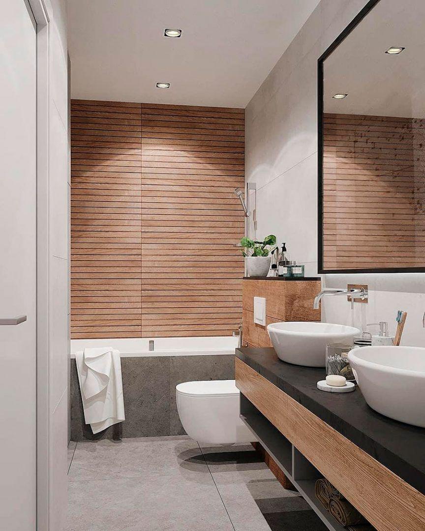 5 Amazing Bathrooms With Wood Effect Wall Tiles Porcelanosa Trendbook In 2020 Wood Wall Bathroom Wood Tile Bathroom Wood Tile Shower