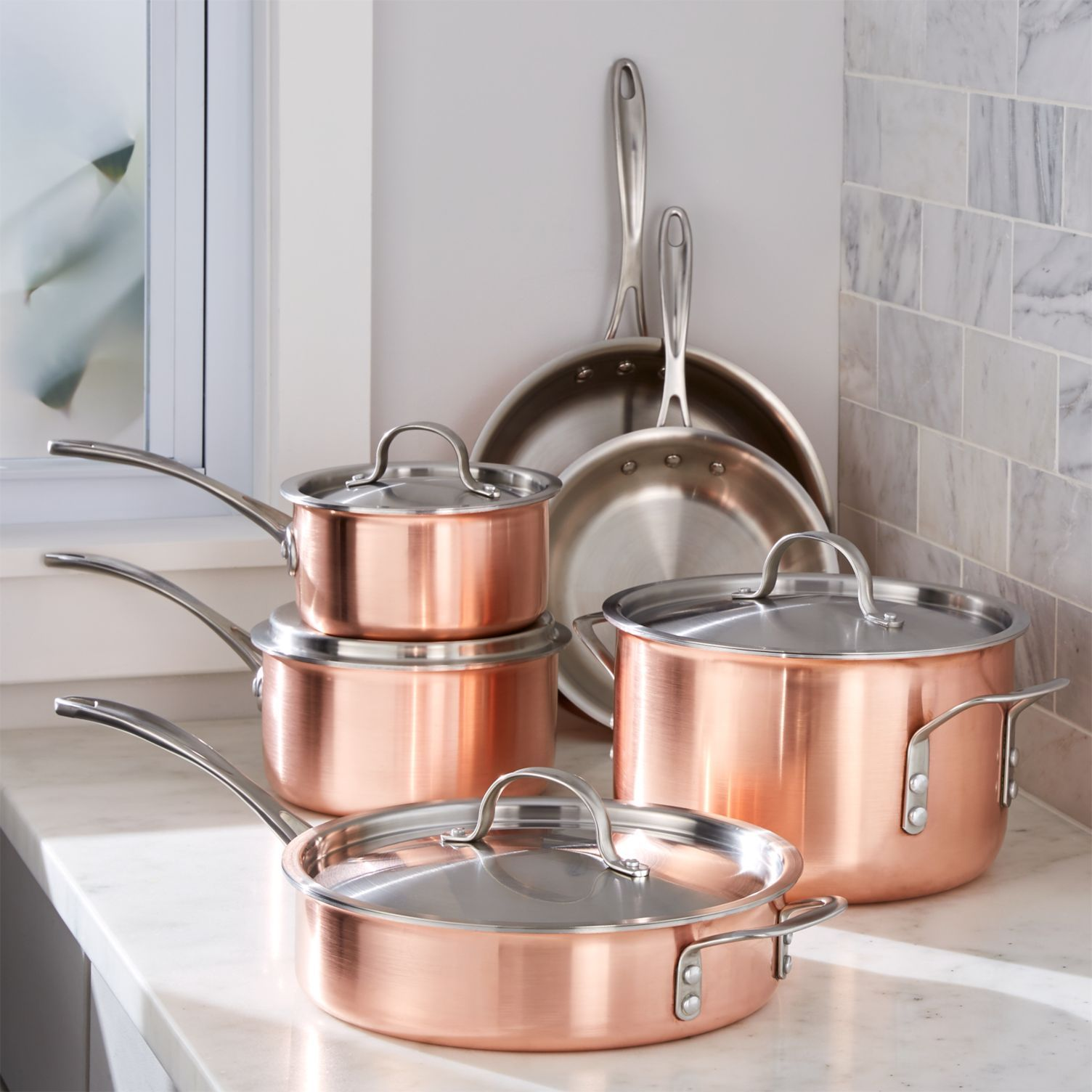 Our Favorite Copper Housewares To Add To Your Wedding Registry Cookware Set Copper Cookware Induction Cookware