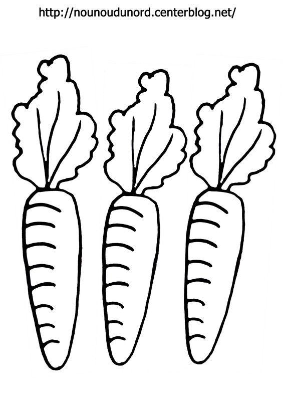 Coloriage de carottes dessin par nounoudunord jardin - Dessin de carotte ...