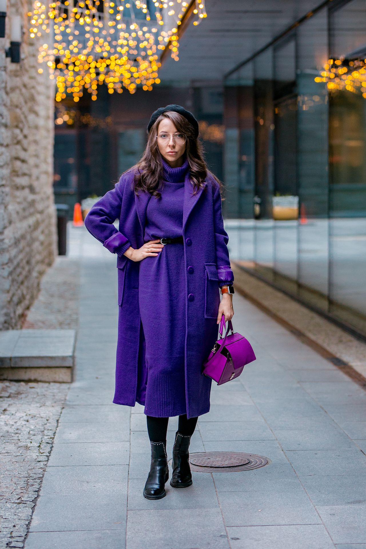 Мода и трендыСиреневое пальто в 2019 году