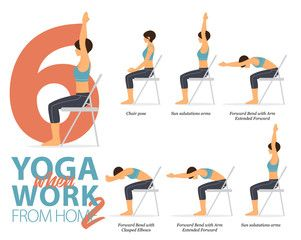 6 yoga when work from home version 2 in 2020  yoga