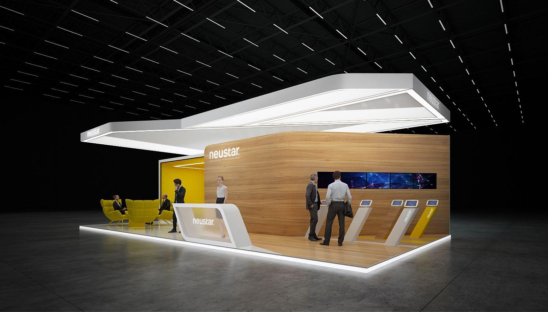 "Exhibition stand "" NEUSTAR"" 72 sq.m., 3 sides open. UK"