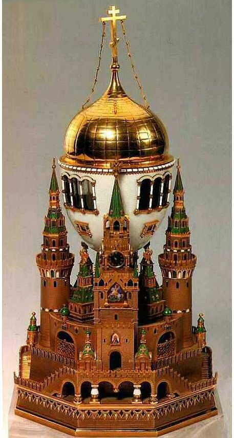 1906 moscow kremlin faberg egg faberge pinterest moscow russia the moscow kremlin faberg egg or uspenski cathedral egg presented by nicholas ii to czarina alexandra fyodorovna negle Gallery